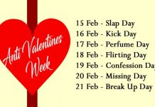 Anti Valentine Days Week List 2021 | Anti Valentine's Day Meaning | Happy Slap Day, Kick Day, Perfume Day, Flirting Day, Confession Day, Missing Day, Breakup Day 2021