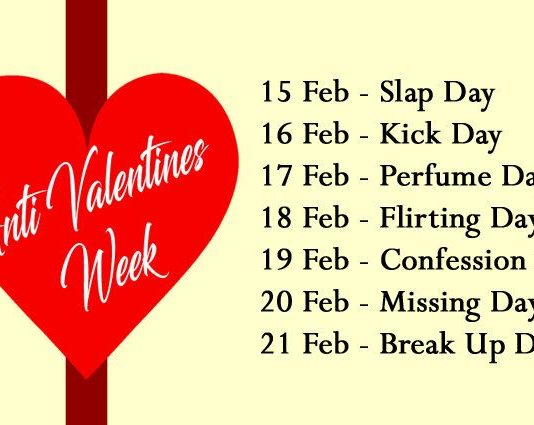 Anti Valentine Days Week List 2020 | Anti Valentine's Day Meaning | Happy Slap Day, Kick Day, Perfume Day, Flirting Day, Confession Day, Missing Day, Breakup Day 2020