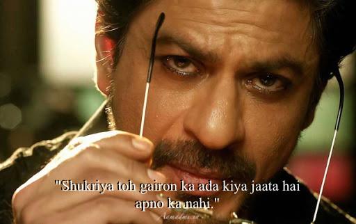 Best Collection of SRK Shahrukh Khan (King) Quotes Shayari Status Romantic & Attitude Dialogues in Hindi & English for Whatsapp Facebook Instagram Pinterest Tik-Tok