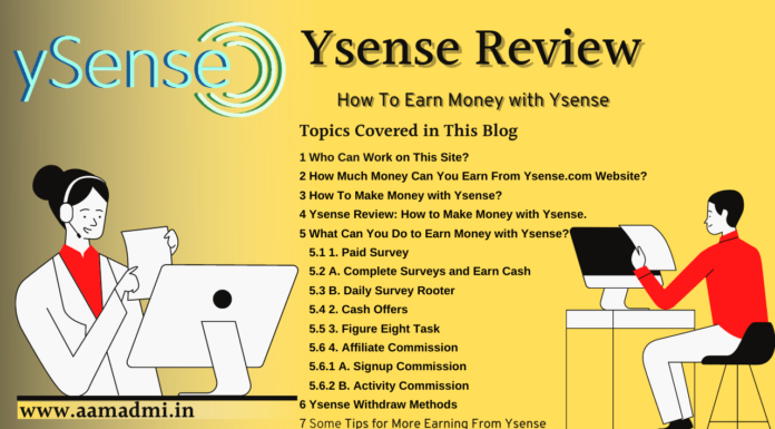 Earn Your First 1000 $ with ysense.com, check out Step By Step Guide About How to Earn Online Money with Ysense. Honest Review on World's Best-Earning Site with Bonus link.