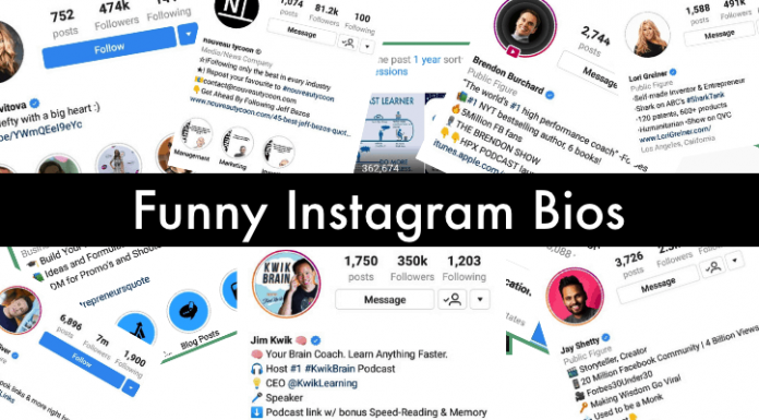Best Collection of Witty and funny Instagram bios will improve your Insta profile, These funny Instagram bios help you make your bio attractive. Funny Insta Short Bio